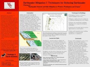 Earthquake Mitigation I Techniques for Reducing Earthquake Hazard