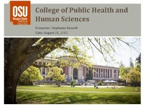 Public Health Policy Institute College of Public Health
