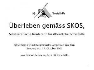berleben gemss SKOS Schweizerische Konferenz fr ffentliche Sozialhilfe