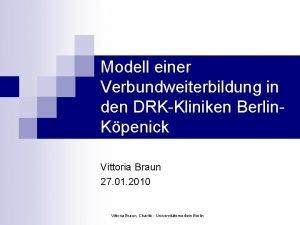 Modell einer Verbundweiterbildung in den DRKKliniken Berlin Kpenick