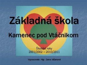 Zkladn kola Kamenec pod Vtnikom kolsk roky 20012002