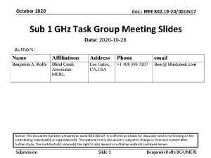 October 2020 doc IEEE 802 19 200016 r