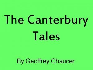 The Canterbury Tales By Geoffrey Chaucer Structure 30