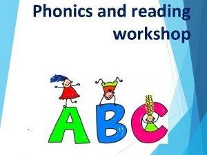 Phonics and reading workshop What is phonics Phonics