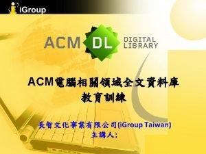 ACM ACM ACM Books ACM Digital Library ACM