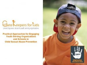 Practical Approaches for Engaging Youth Serving Organizations and
