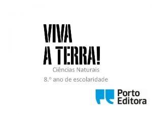 Cincias Naturais 8 o ano de escolaridade DOMNIO