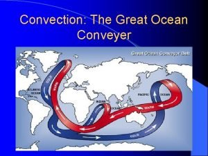 Convection The Great Ocean Conveyer Also convection Upwelling