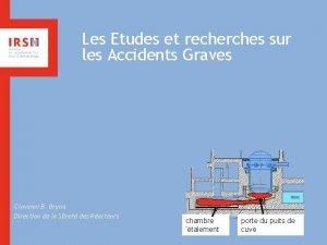 Les Etudes et recherches sur les Accidents Graves