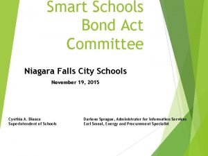 Smart Schools Bond Act Committee Niagara Falls City