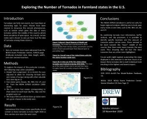 Exploring the Number of Tornados in Farmland states
