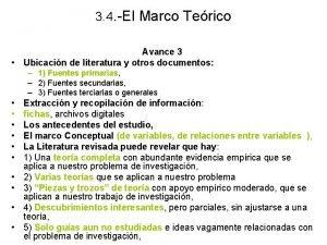 3 4 El Marco Terico Avance 3 Ubicacin