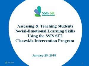 Assessing Teaching Students SocialEmotional Learning Skills Using the