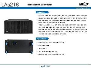 LAs 218 Bass Reflex Subwoofer www nextproaudio com