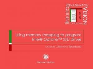 Using memory mapping to program Intel Optane SSD