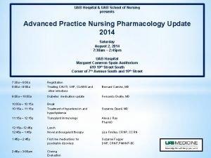 UAB Hospital UAB School of Nursing presents Advanced