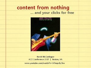 content from nothing and your clicks for free