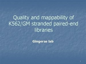 Quality and mappability of K 562GM stranded pairedend