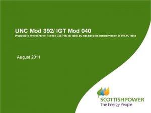 UNC Mod 392 IGT Mod 040 Proposal to