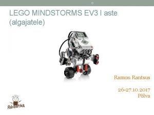 D LEGO MINDSTORMS EV 3 I aste algajatele