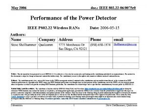 May 2006 doc IEEE 802 22 060075 r