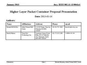 January 2013 doc IEEE 802 11 130041 r