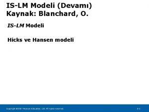 ISLM Modeli Devam Kaynak Blanchard O ISLM Modeli