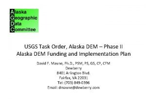 USGS Task Order Alaska DEM Phase II Alaska