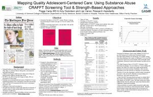 Mapping Quality AdolescentCentered Care Using Substance Abuse CRAFFT