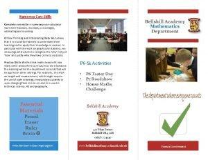 Numeracy Core Skills Bellshill Academy Mathematics Department Complete