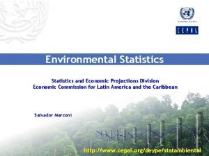 Environmental Statistics and Economic Projections Division Economic Commission