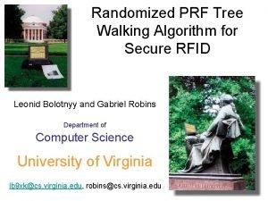 Randomized PRF Tree Walking Algorithm for Secure RFID