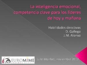 La inteligencia emocional competencia clave para los lderes