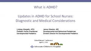 What is ADHD Updates in ADHD for School