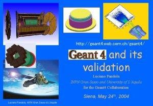 http geant 4 web cern chgeant 4 Geant