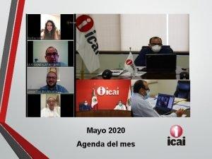Mayo 2020 Agenda del mes Actividades del mes
