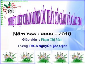 Gio vin Phm Th Mai Tr ng THCS