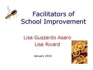 Facilitators of School Improvement Lisa Guzzardo Asaro Lisa