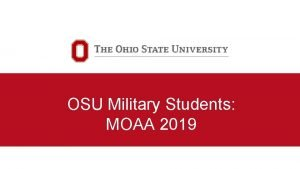 OSU Military Students MOAA 2019 Military and Veterans