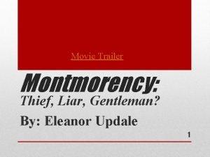 Movie Trailer Montmorency Thief Liar Gentleman By Eleanor