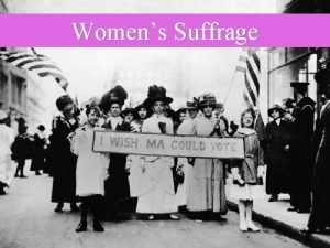 Womens Suffrage Womens Suffrage in New Jersey 1776