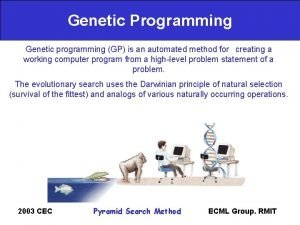 Genetic Programming Genetic programming GP is an automated