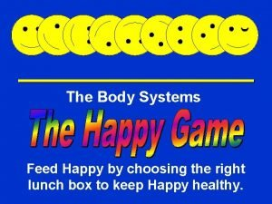 The Body Systems Happy Game Feed Happy by