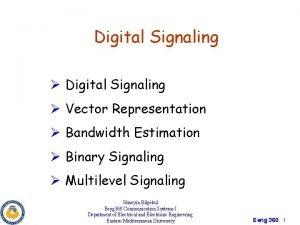 Digital Signaling Vector Representation Bandwidth Estimation Binary Signaling