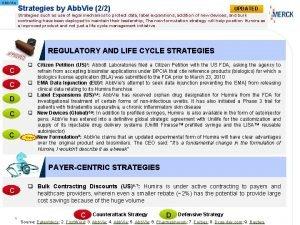Abb Vie Strategies by Abb Vie 22 UPDATED