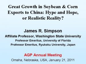 Great Growth in Soybean Corn Exports to China