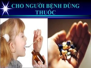CHO NGI BNH DNG THUC Mc tiu Chun