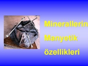 Minerallerin Manyetik zellikleri Yer kabuundaki elementler Element Yaklak