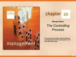 20 1 Why Control Control is an issue