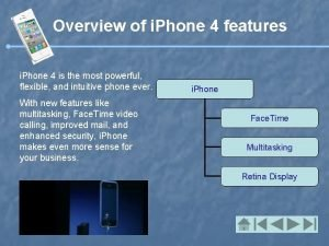 Overview of i Phone 4 features i Phone